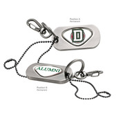 Dartmouth College Alumni Dog Tag Key Chain DARTMOUTH CAPITAL D/ALUMNI