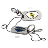 Georgia Tech Yellow Jackets Alumni Dog Tag Key Chain GEORGIA TECH BEE/ALUMNI