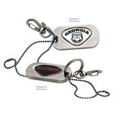 Georgia Bulldogs Alumni Dog Tag Key Chain GEORGIA BULLDOG/ALUMNI