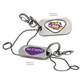 LSU Tigers Alumni Dog Tag Key Chain LSU MASCOT - TIGER/ALUMNI