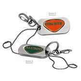 Miami Hurricanes Alumni Dog Tag Key Chain UINV. OF MIAMI WORD/ALUMNI