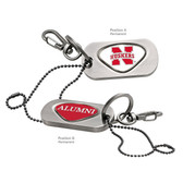 Nebraska Cornhuskers Alumni Dog Tag Key Chain NEBRASKA WORD/ALUMNI