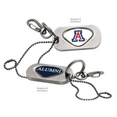 Arizona Wildcats Alumni Dog Tag Key Chain UNIV. OF ARIZONA CAPITAL A/ALUMNI