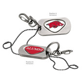 Arkansas Razorbacks Alumni  Dog Tag Key Chain ARKANSAS BIG RED/ALUMNI