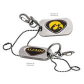 Iowa Hawkeyes Alumni   Dog Tag Key Chain IOWA HAWK MASCOT/ALUMNI