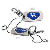 "Kentucky Wildcats Alumni Dog Tag Key Chain KENTUCKY ""KU""/ALUMNI"