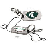Michigan State Spartans Alumni Dog Tag Key Chain MICHIGAN STATE SPARTY/ALUMNI