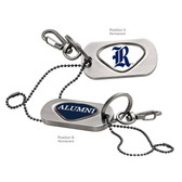 Rice Owl Alumni Dog Tag Key Chain RICE CAPITAL R/ALUMNI