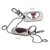 "Texas Tech Red Raiders Alumni Dog Tag Key Chain TEXAS TECH ""TT""/ALUMNI"