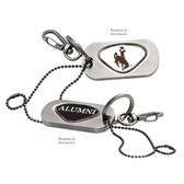Wyoming Cowboys Alumni Dog Tag Key Chain WYOMING COWBOY JOE/ALUMNI