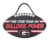 Georgia Bulldogs Sign Wood Football Power Design