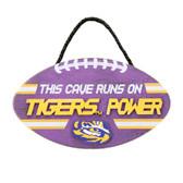 LSU Tigers Sign Wood Football Power Design
