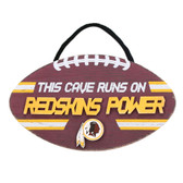 Washington Redskins Sign Wood Football Power Design