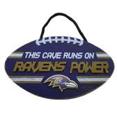 Baltimore Ravens Sign Wood Football Power Design