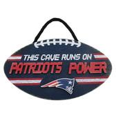 New England Patriots Sign Wood Football Power Design