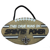 New Orleans Saints Sign Wood Football Power Design