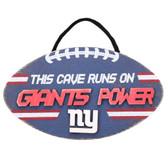 New York Giants Sign Wood Football Power Design