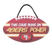 San Francisco 49ers Sign Wood Football Power Design