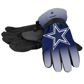 Dallas Cowboys Gloves Insulated Gradient Big Logo Size Small/Medium