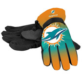 Miami Dolphins Gloves Insulated Gradient Big Logo Size Small/Medium