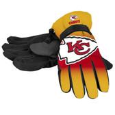 Kansas City Chiefs Gloves Insulated Gradient Big Logo Size Small/Medium