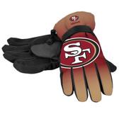 San Francisco 49ers Gloves Insulated Gradient Big Logo Size Small/Medium