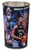 Minnesota Timberwolves Wastebasket 15 Inch Kevin Garnett Design