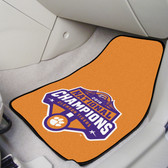 Clemson Tigers 2018-19 College Football Champions 2-pc Printed Carpet Car Mat Set