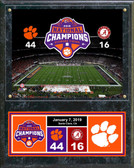 Clemson Tigers 2018 National Champions Field Plaque 15 x 12