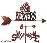 Minot State Beavers Garden Weathervane