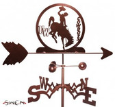 Wyoming Cowboys Garden Weathervane