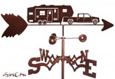 5TH WHEEL CAMPER Garden Weathervane