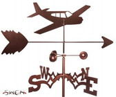 AIRPLANE - LOW WING Garden Weathervane