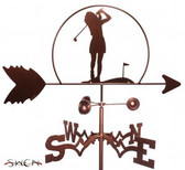 GOLFER - FEMALE Garden Weathervane