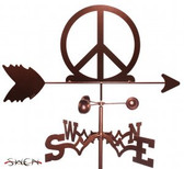 PEACE SIGN Garden Weathervane