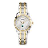 Michigan State University Bulova Women's  Classic Two-Tone Round Watch