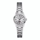 Georgia Bulldogs  Bulova Women`s Corporate Classic Silver-Tone Bracelet Watch