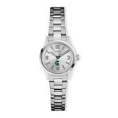 Michigan State University Bulova Women`s Corporate Classic Silver-Tone Bracelet Watch