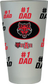 Arkansas State Red Wolves #1 Dad Pint Glass