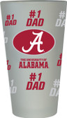 Alabama Crimson Tide #1 Dad Pint Glass