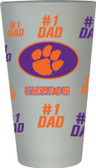 Clemson Tigers #1 Dad Pint Glass