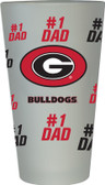 Georgia Bulldogs #1 Dad Pint Glass