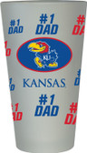 Kansas Jayhawks #1 Dad Pint Glass