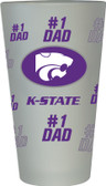 Kansas State Wildcats #1 Dad Pint Glass