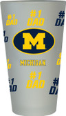 Michigan Wolverines #1 Dad Pint Glass