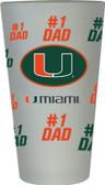 Miami Hurricanes #1 Dad Pint Glass