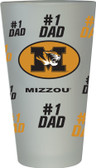 Missouri Tigers #1 Dad Pint Glass