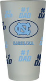 North Carolina Tar Heels #1 Dad Pint Glass