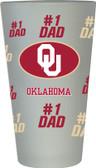 Oklahoma Sooners #1 Dad Pint Glass