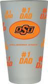 Oklahoma State Cowboys #1 Dad Pint Glass